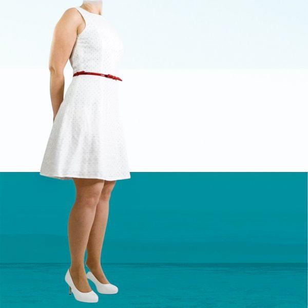 schnittmuster Sommerkleid Damen leinen