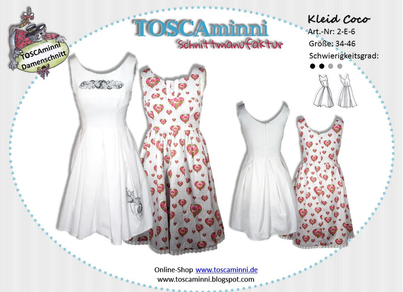 Schnittmuster 60er Jahre Kleid Coco