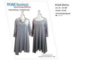 Schnittmuster A-Linien Kleid Gloria Gr. 34-46