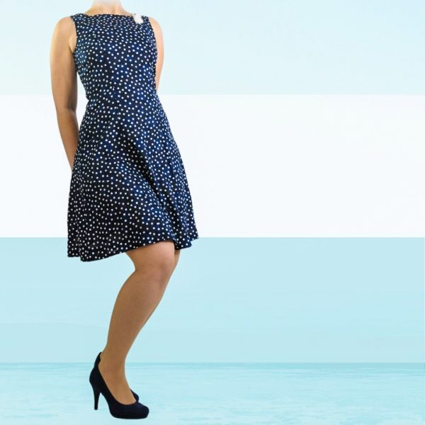 schnittmuster a-linien-kleid damen