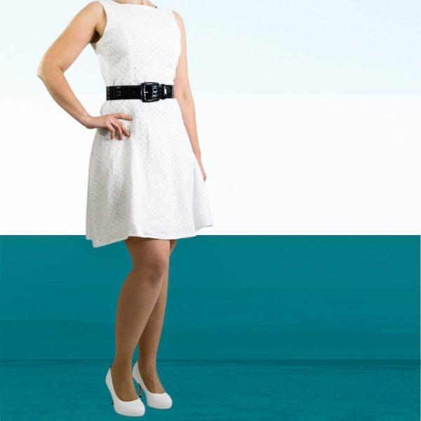 Schnittmuster Kleid ausgestellt