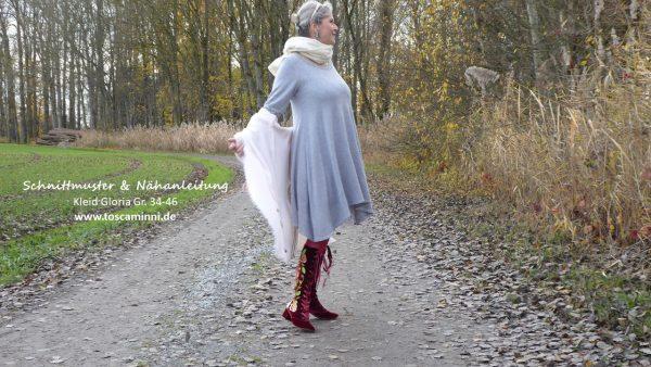 Nähanleitung Damenkleid Herbst