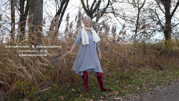 ,Schnittmuster Damenkleid Gloria Gr. 34-46