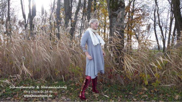 Schnittmuster Damenkleid Gloria Gr. 34-46