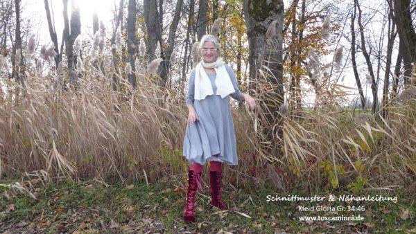 Schnitt Kleid knielang