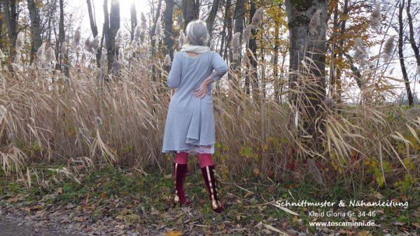 Nähanleitung weit schwingendes Kleid