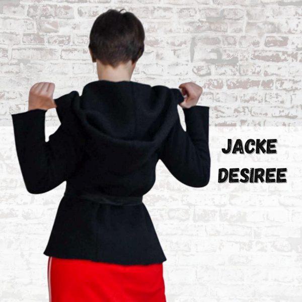 Schnittmuster Jacke Damen mit Kapuze