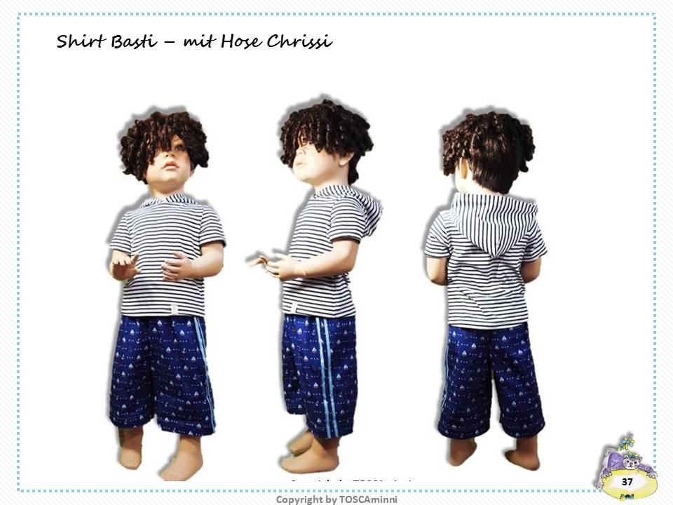 Nähanleitung Kindershirt kurzarm mit Kapuze