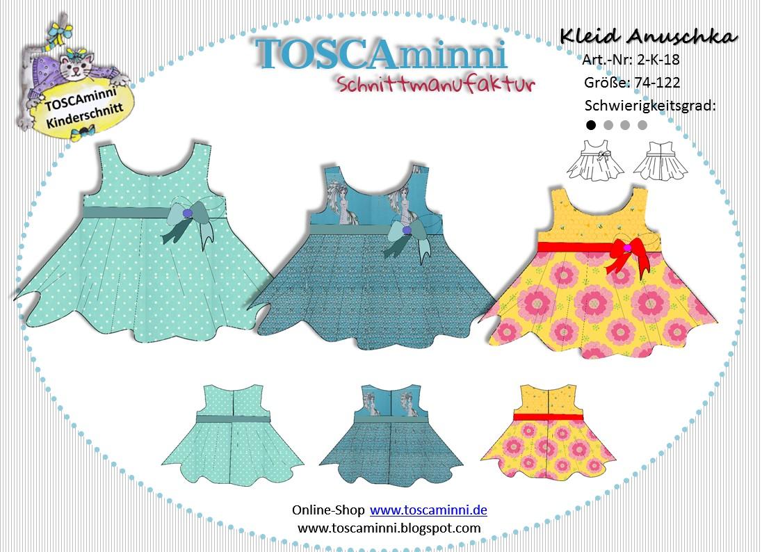 Schnittmuster Kinderkleid Annuschka