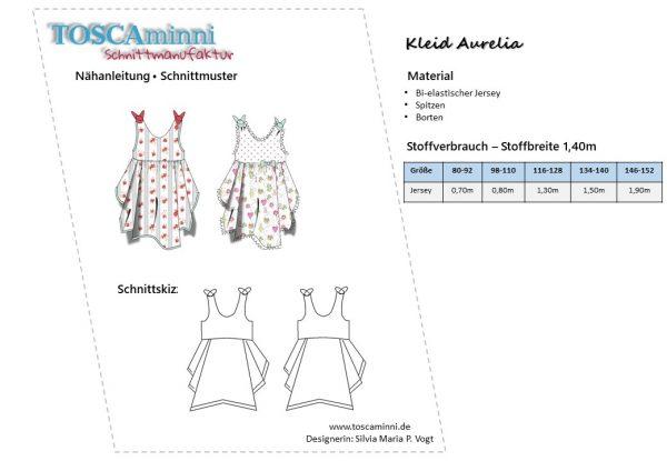 Schnittmuster Kinderkleid Sommer