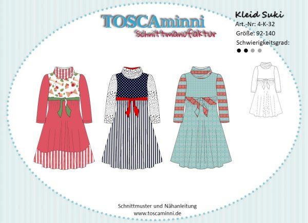 Nähanleitung und Schnittmuster Kinderkleid, Kinderkleid Schnitt