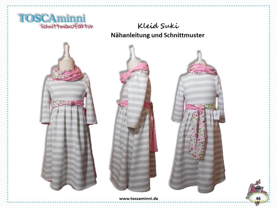 Schnittmuster & Nähanleitung Kinderkleid Suki (Gr. 98-140 ...
