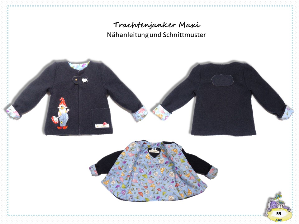 Schnitt Kinderjanker Maxi, Nähanleitung Kinderjanker