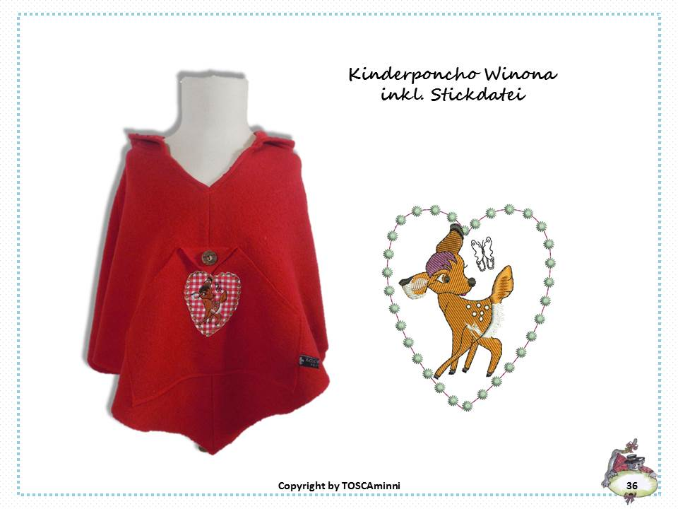Schnittmuster & Nähanleitung Kinderponcho Winona ab Gr. 122 ...