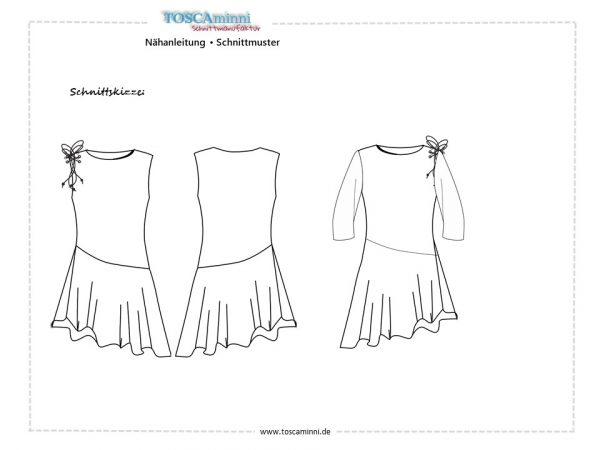 Schnitt Damenkleid Gr. 34-54