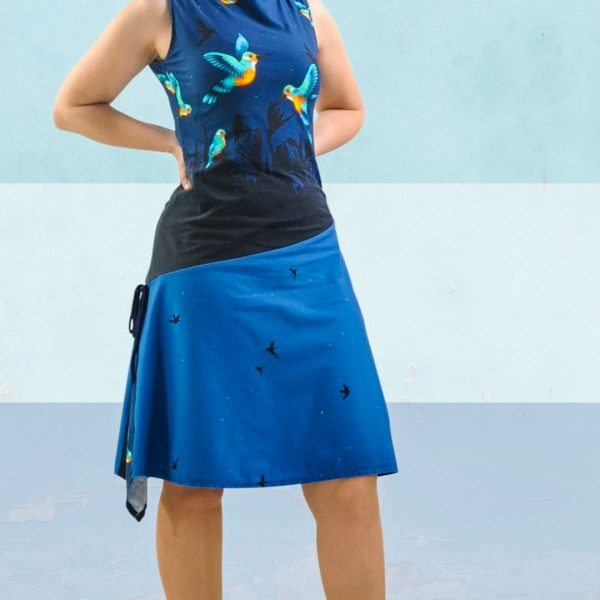 Schnittmuster Kleid asymmetrisch