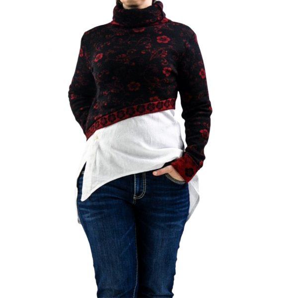 Schnittmuster kurzer Pullover Damen