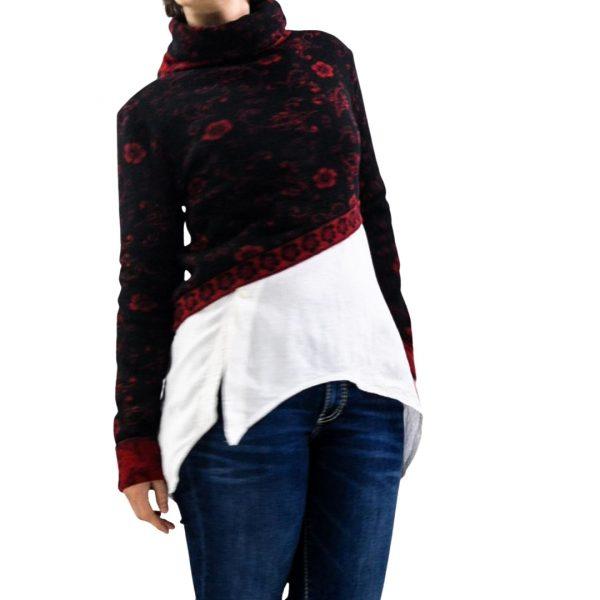 schnittmuster kurzer pullover damen strickstoff