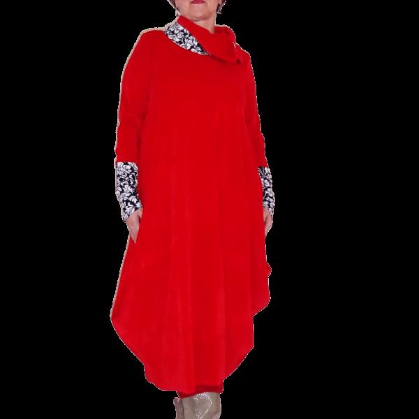 Schnittmuster Damen Kleid Rollkragen