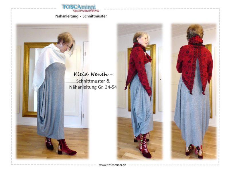 Schnittmuster Damenkleid Gr. 54