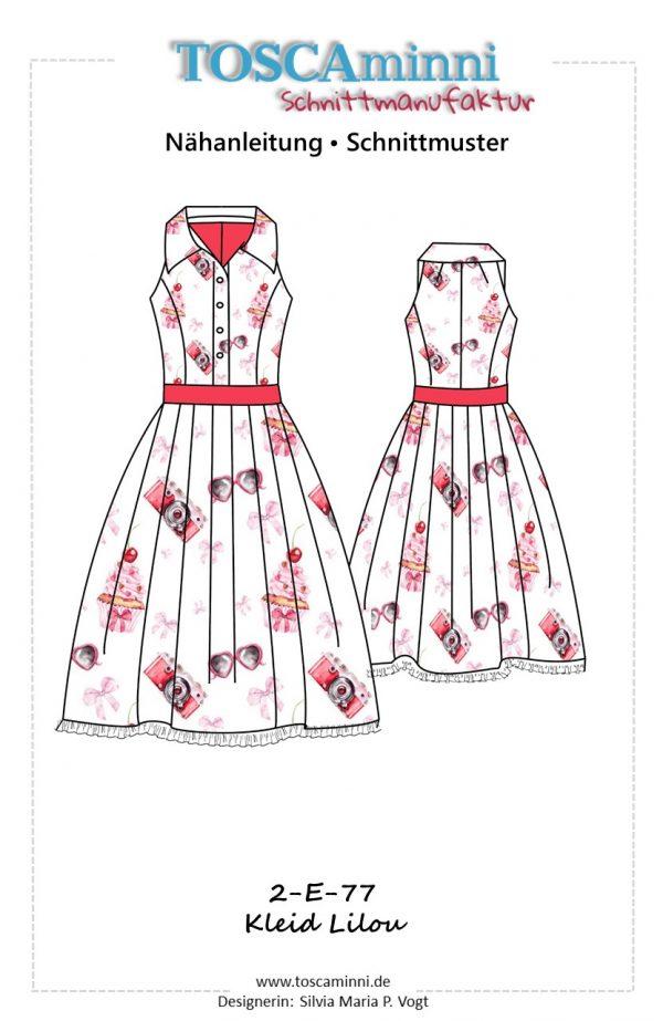 Nähanleitung Vintagekleid ärmellos
