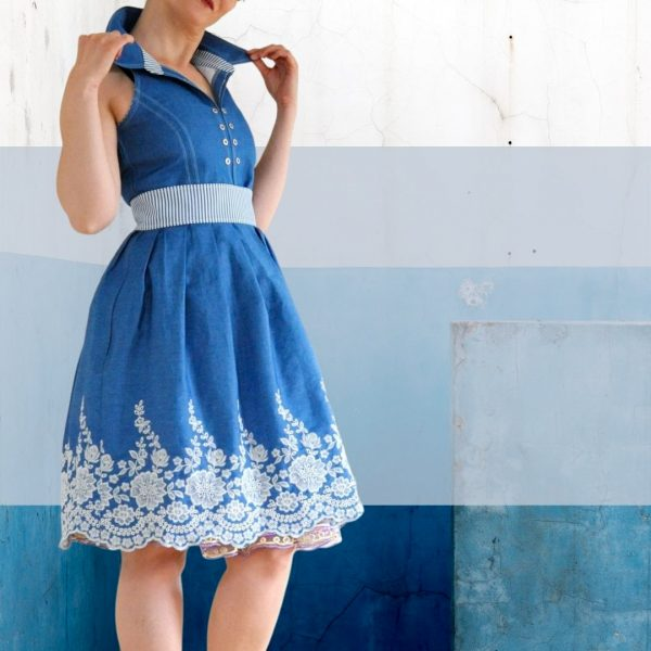 Schnittmuster Damenkleid Webware