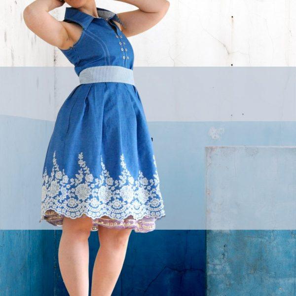 Schnittmuster Kleid Damen Webware