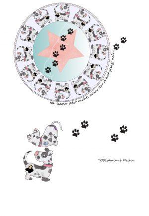 Bügelbild Hund - Mandala