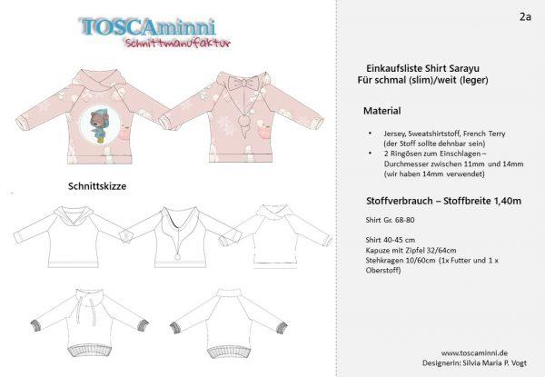 1-K-10 Shirt Sarayu Materialangaben Gr. 68-80