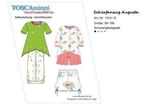 Schnitt Kinderschlafanzug