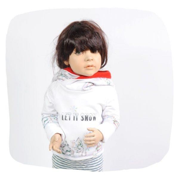 Schnittmuster Kinderhoodie mit Zipfelkapuze