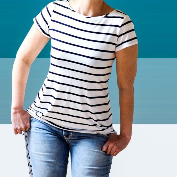Schnittmuster Damen Shirt kurzarm
