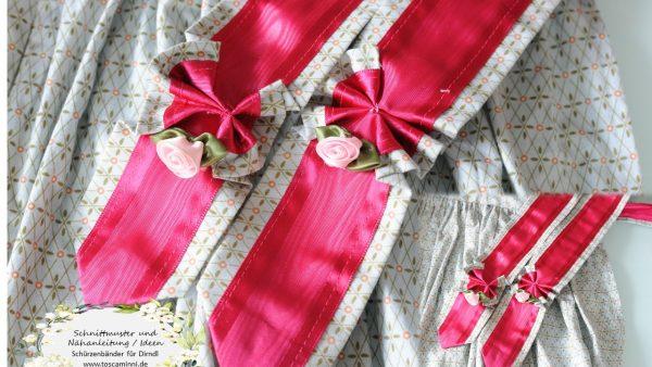 Schürzenbänder pink