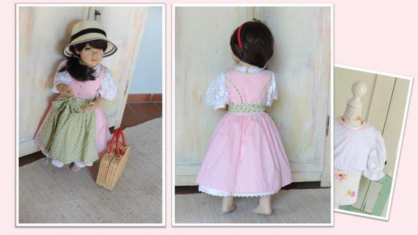 Kinderdirndl rosa Gr. 86