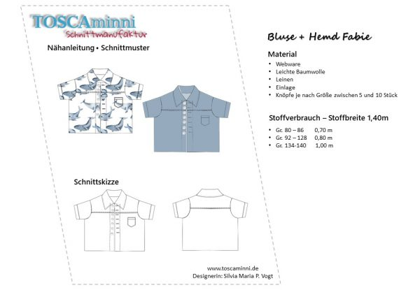 Schnittmuster Junden Hemd