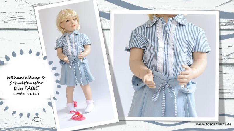 Nähanleitung Bluse Mädchen mit Bubikragen
