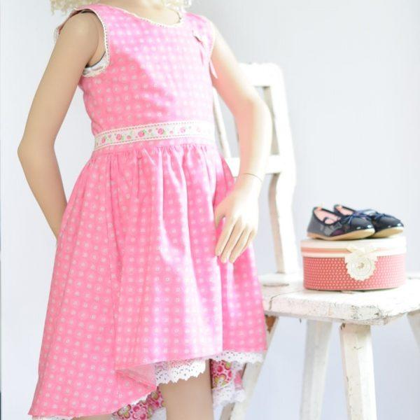 Schnittmuster Kinderkleid asymmetrisch