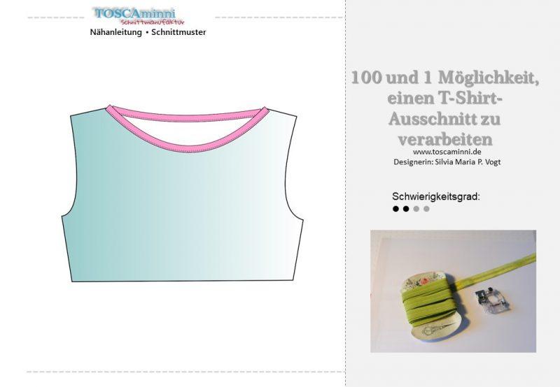 Shirt Ausschnitt mit Falzband