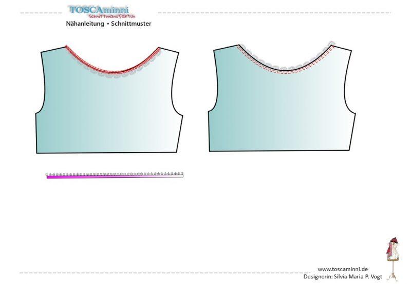Shirt Ausschnitt versäubern