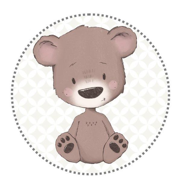 Bügelbild Bär