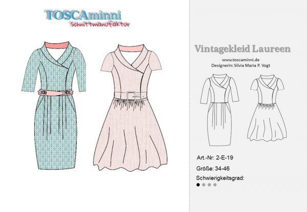 50er Jahre Kleid Laureen Nähanleitung und Schnittmuster
