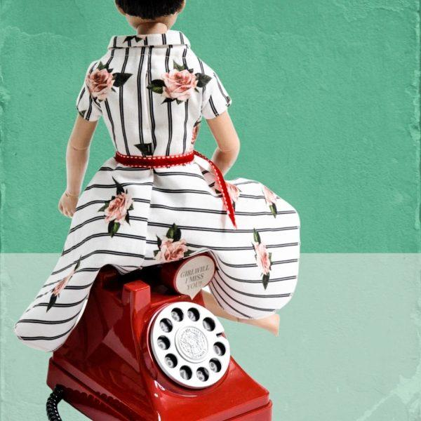 Schnittmuster Kleid mit Wickelkragen Webware
