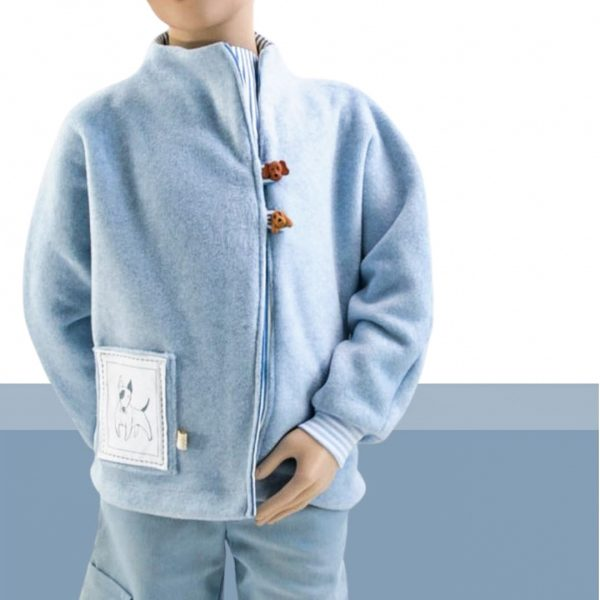 Schnittmuster Kindershirt mit Fledermausärmeln