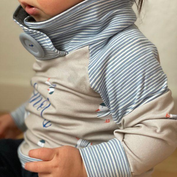 Schnittmuster Kindershirt mit Stehkragen