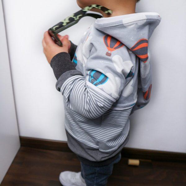 Schnittmuster Kindershirt mit Kapuze