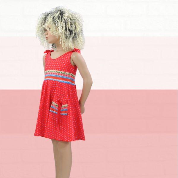 Schnittmuster Kinderkleid für Nähanfänger