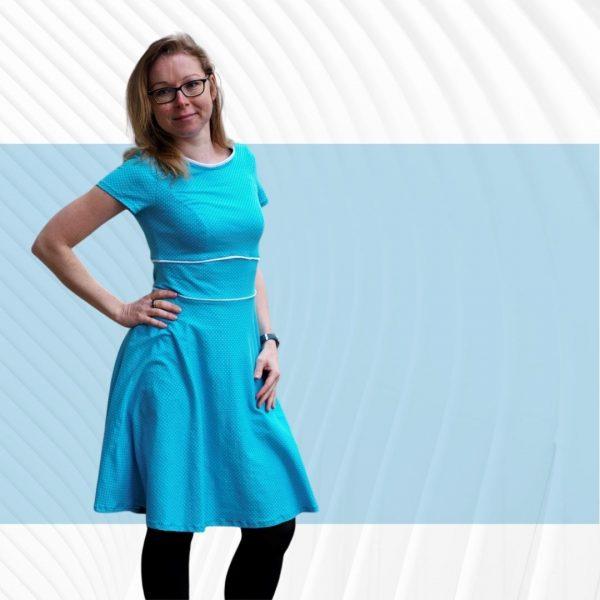 Schnittmuster Kleid Damen Jersey