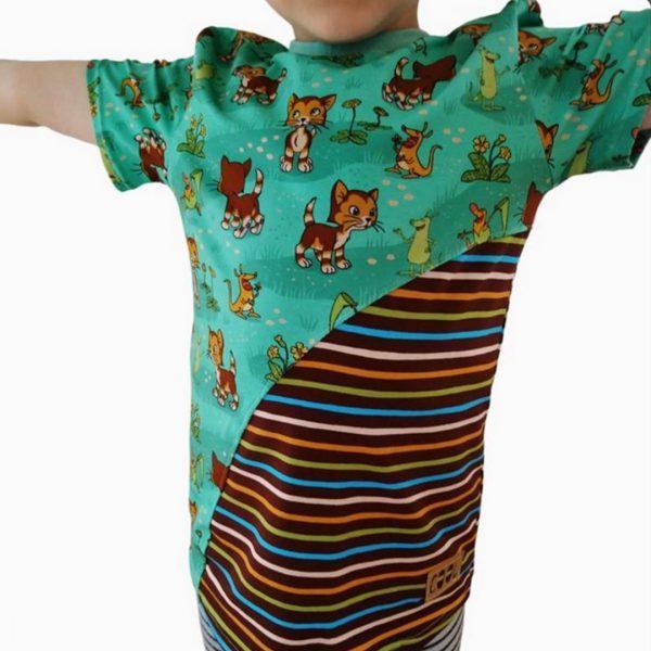 Schnittmuster Shirt mit runder Teilungsnaht