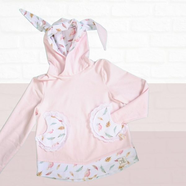 Schnittmuster Kinder Shirt mit Kapuze