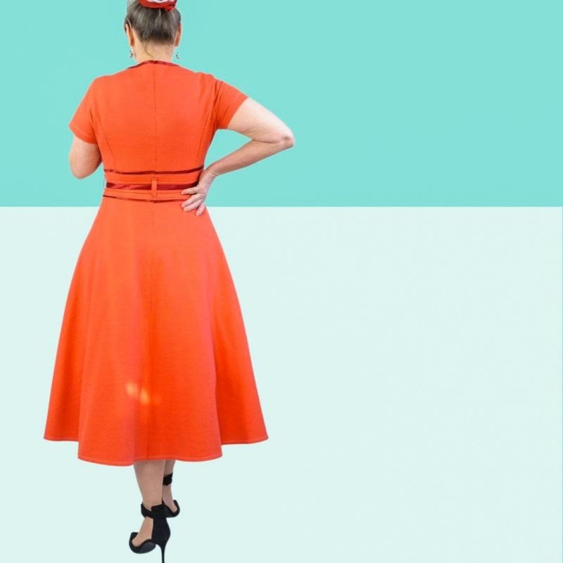 Schnittmuster kleid tellerrock